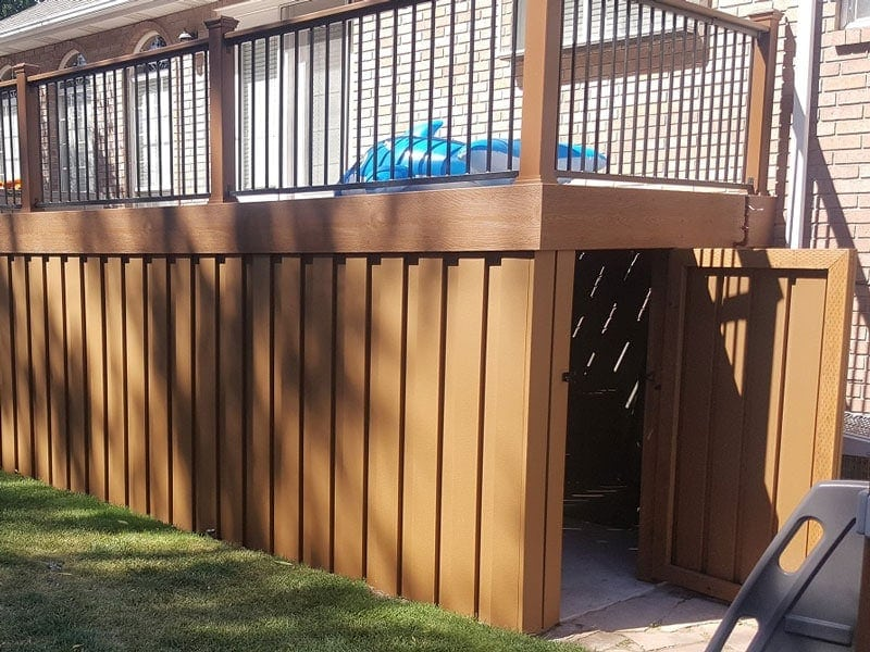 Trex Pickets Used for Deck Skirting