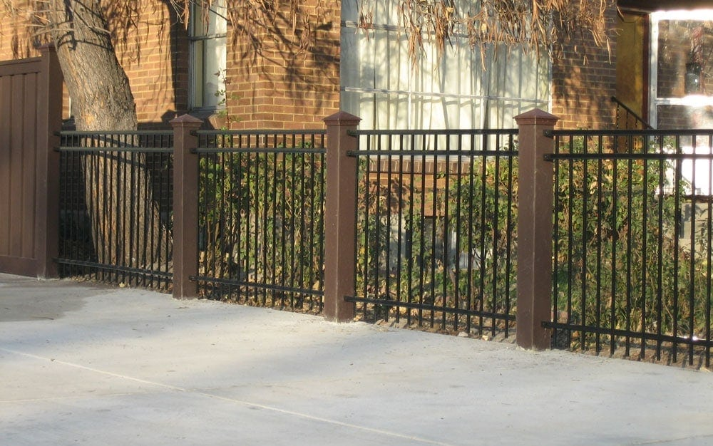 Trex Fence with IronGuard Concrete