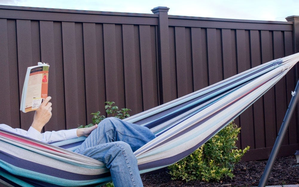 Trex Seclusions Fencing Woodland Brown Hammock