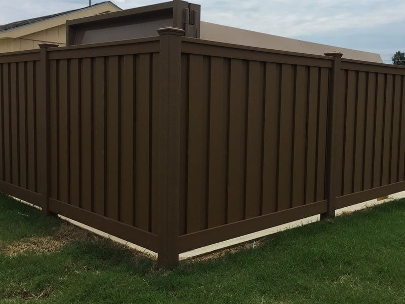 Love's Travel Stop Trex Privacy Fencing