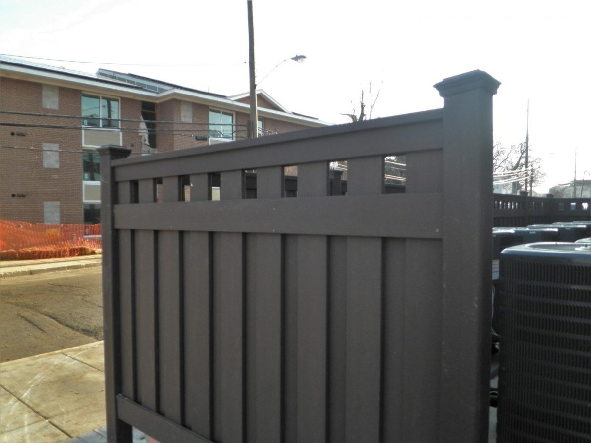 A Semi-Privacy Fence made from Trex Seclusions composite fencing.