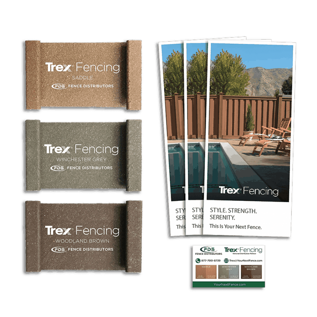 Pictures of Trex Fencing samples