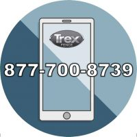 Clip art of smartphone with phone number for Trex Fencing - FDS Fence Distributors