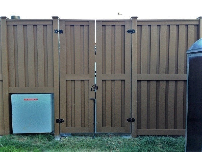 Tall Trex Fencing Double Gates