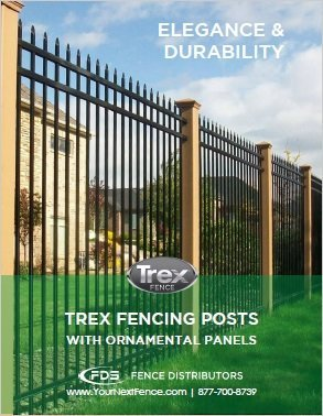 Cover of the Trex Fencing Posts with Ornamental Panels flyer