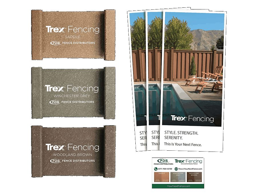 Trex Fencing Color Samples and Brochures
