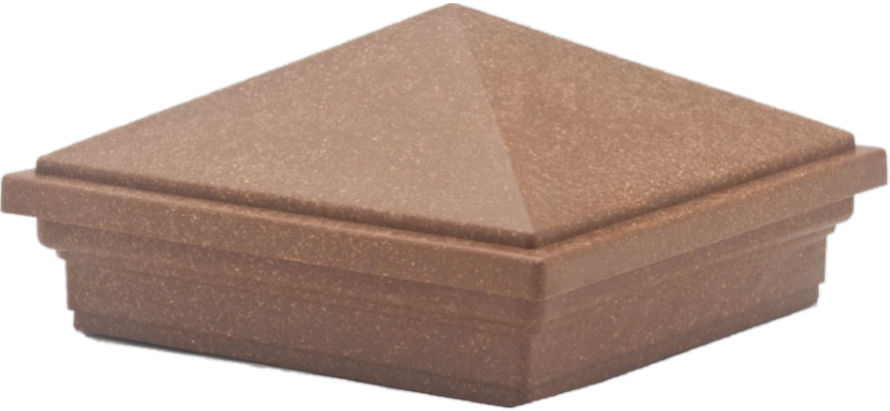 Pyramid Post Cap for Trex Fencing Post in Saddle color