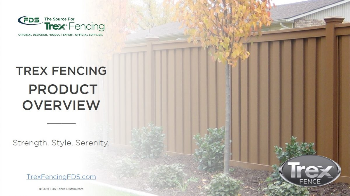 The front cover for the Trex Fencing General Presentation