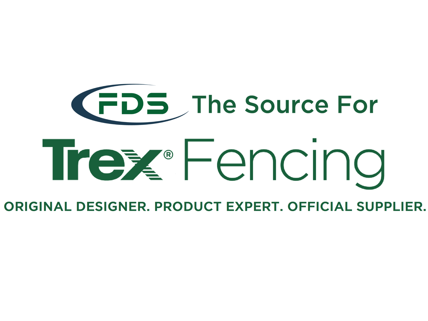 FDS Fence Distributors Logo and text about the source for Trex Fencing