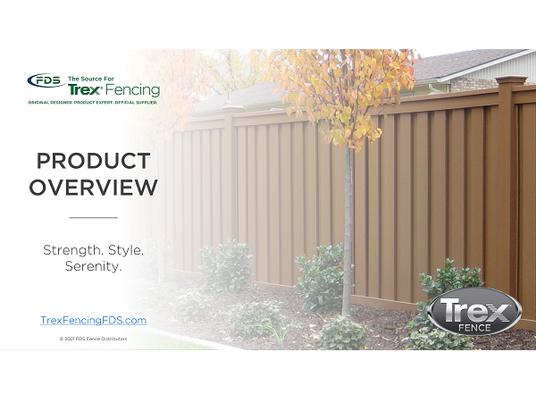 The cover of a Trex Fencing sales presentation