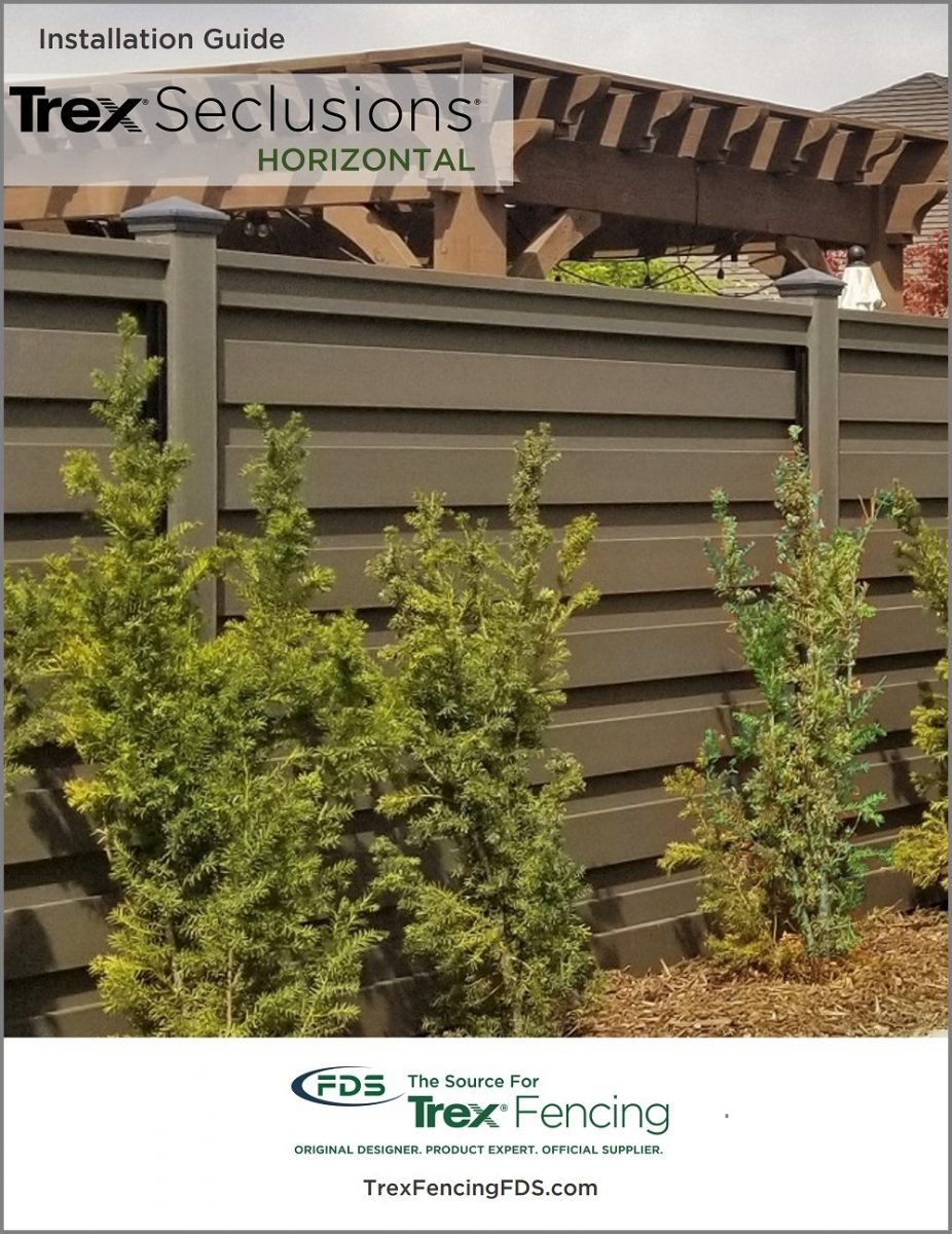 Cover for Trex Seclusions Horizontal Fencing Installation Guide